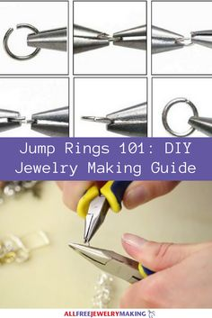 Jump Rings 101: DIY Jewelry Making Guide | You are going to love how this makes opening and closing jump rings as easy as 1, 2, 3! Plus, you've got some super cute jewelry tossed in there too!