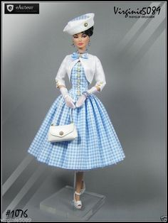 Tenue Outfit Accessoires Pour Fashion Royalty Barbie Silkstone Vintage Design