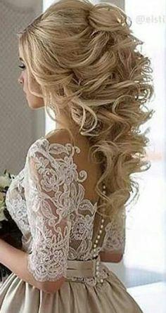 Beautiful wedding style for longer hair