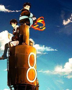 Manga Anime, Anime Art, Blue Anime, Anime Love, Anime Classroom, Shinra Kusakabe, Fire Kids, Otaku, Anime Figurines