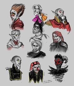 Men of Skyrim by AuroraPotter on DeviantArt Mercer Frey, Eso Skyrim, Skyrim Fanart, Elder Scrolls Skyrim, Old Art, Memes, Art Inspo, Video Game, Geek Stuff