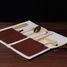 7 Piece Incense Tool Set Grey Spoon Bag Incense Equipment Incense Burner Tools Buddhist Supplies