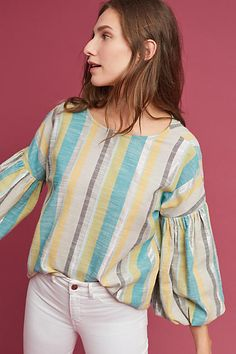 Seen Worn Kept Metallic Striped Top