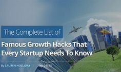 A complete, actionable list of growth hacking tactics you can use to supercharge the growth of your business and build your user base. DAMN FAST.