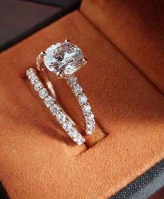 White Gold Over Womens Ct Diamond Engagement Rings Wedding Ring Set Titanium Wedding Rings, Diamond Wedding Rings, Wedding Ring Bands, Diamond Engagement Rings, Solitaire Rings, Gold Wedding Jewelry, Custom Wedding Rings, Wedding Ring Designs, Wedding Ideas