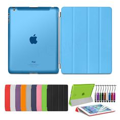 Ultra Slim Magnetic Stand Smart Cover Back Case For APPLE iPad 4 3 2 AIR & Mini