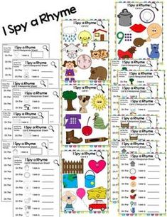 This phonological awareness bundle pack is made up of many activities that will help you teach rhyming to your kindergarten or first grade students.  Created by Alma Almazan www.goingbacktokinder.blogspot.com