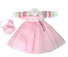 Girl's First Birthday Hanbok Pastel Light Pink  (Size 1)