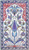 Traditional Iznik Tile Art - 80x140cm