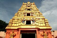 Gopuram of Kondagattu Temple, Karimnagar, Andhra Pradesh