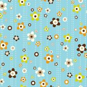 Flower Shower Teal by heatherdutton, click to purchase fabric