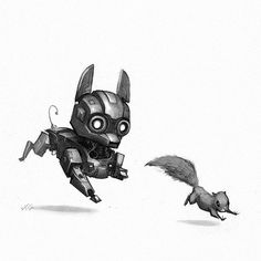 Here's robot Robot no.7 #marchofrobots #robot #chihuahua #dog #animals #art #illustration #instagood #instaart #conceptart #drawing #draw #creaturedesign