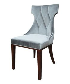 Love this Gray Velvet Regis Dining Chair - Set of Two on #zulily! #zulilyfinds