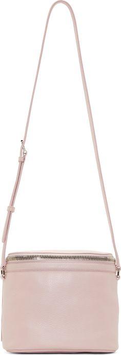 Kara - Pink Pebbled Leather Large Stowaway Bag
