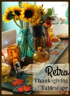Kaleidoscope of Colors: Retro Thanksgiving Tablescape