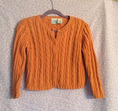 babyGap Orange Cable Knit Button Down Cardigan size 3xl #babyGap #Cardigan