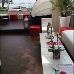 We have an amazing view at the Havas Cafe this year! Cannes, Table Decorations, Amazing, Furniture, Home Decor, Decoration Home, Room Decor, Home Furnishings, Home Interior Design
