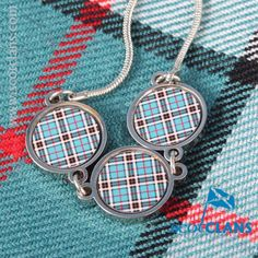 Thompson Tartan Triple Pendant. Free worldwide shipping available