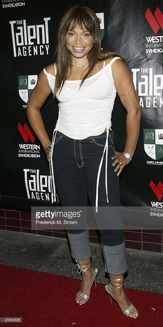 Actress Tisha Campbell attends the Alex Thomas and Eva Longoria birthday party and launch of the new television show 'The Talent Agency' at The Forbidden City Club on October 5, 2003 in Hollywood, California.