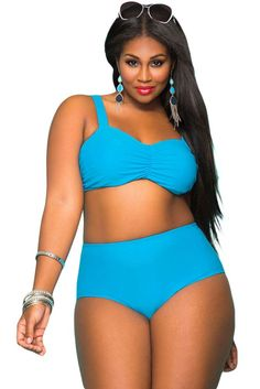 Large Big 5XL Curvy Girl Tropical Style High Waist Bathing ...