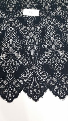Black lace fabric by the yard, France Lace, Embroidery lace, Wedding Lace, Bridal lace, Evening dress lace, Lingerie Lace, Alencon Lace