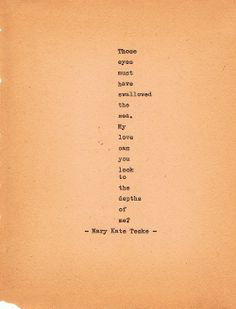 Typewriter poem #21 | Mary Kate Teske