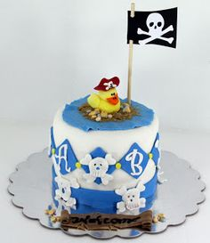 Pirate Rubber Ducky Baby Shower Cake
