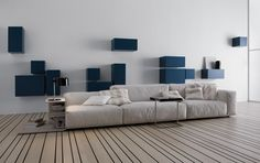 Sala de diseño italiano, muebles italianos, salas minimalistas, salas de moda.