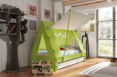 Cute Crafted Cabin Tent Bed by Mathy by Bols | Inthralld