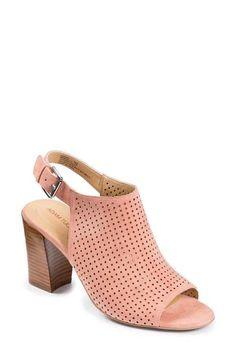 Adam Tucker by Me Too 'Meridia City' Perforated Slingback Peep Toe Sandal (Women)