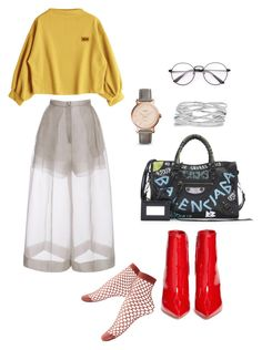 """Untitled #159"" by daii-deea on Polyvore featuring Delpozo, Gianvito Rossi, Balenciaga, FOSSIL and M&Co"