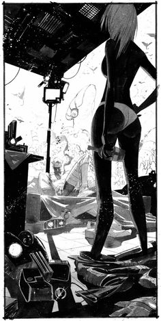 Illustration by Matteo Scalera Illustrations, Illustration Art, Character Art, Character Design, Tachisme, Bd Comics, Comic Books Art, Erotic Art, Cyberpunk