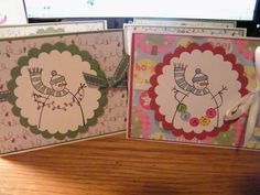 Hopefully those 5 people cherish the card. *snicker* Thanks for looking. Stamping Up, Snowman, Christmas Cards, Paper Crafts, Simple, Christmas E Cards, Tissue Paper Crafts, Xmas Cards, Snowmen
