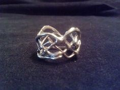 Wide Free Form Lost Wax Silver Ring. $58.00, via Etsy.
