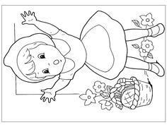 cervena-karkulka-omalovanky-5 - Omalovánky pro děti online k ... Red Riding Hood, Little Red, Kids Rugs, Creative, Decor, School, Noel, Storytelling, Decoration