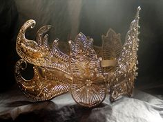 RESERVED Vintage Crown / Ethnic Ceremonial by mistyalbion on Etsy, £186.00