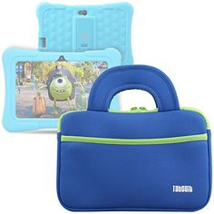 """Amazon   TabSuit 7"""" Dragon Touch Y88X Plus/Y88X/M7 Kids Tablet, Dragon Touch S7/S8 Tablet Ultra-Portable Neoprene Zipper Carrying Sleeve Case Bag with Accessory Pocket- Blue #affiliate"""
