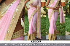 Indian Bollywood Style Heavy Wedding Beautiful Party Designer Saree Sari 3067