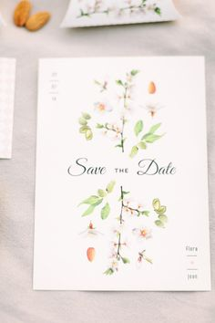 Romantic floral save the date Wedding Invitation Design, Wedding Stationary, Wedding Types, Floral Save The Dates, Botanical Wedding, Stationery Design, Paper Goods, Invitation Cards, Wedding Designs