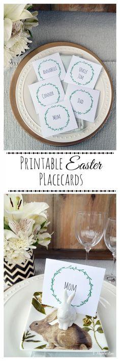 Printable wreath Easter table placards   11 Magnolia Lane