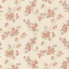 992-68324 Peach Satin Floral Trail Wallpaper - Tiffany - Mirage Wallpaper