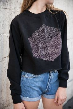 Brandy ♥ Melville | Nancy Maze Cube Cropped Sweatshirt - Graphics