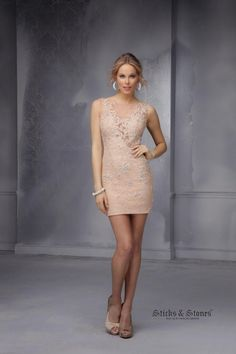 Sticks and Stones 9296 Short Lace Prom Dress