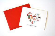 Christmas Card / Merry Christmas Card / by OwlandOakToronto
