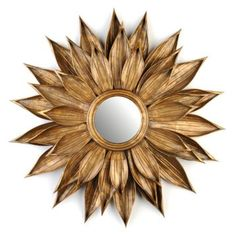 Golden Rosette Mirror, 27.5""