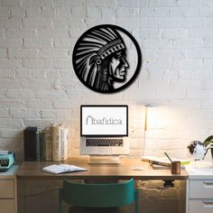 Metal Wall Art - Native American - Interior Decoration - Home Decor by BafidicaHomeDecor on Etsy