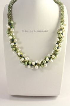 Spring Green Kumihimo Necklace by ComplimentsByDesign on Etsy