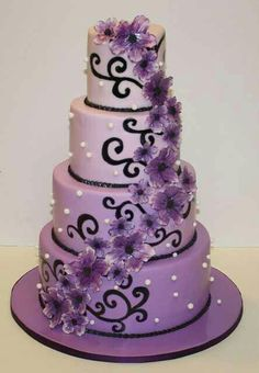 Purple wedding cake                                                                                                                                                     More
