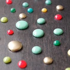 There are lots of ways to make enamel dots yourself - see how on the blog!