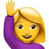 🙋 Happy Person Raising One Hand Emoji Hand Emoji, Emoji Love, Smiley Emoji, Images Emoji, Emoji Pictures, Emojis On Instagram, Raised Hands Emoji, Hand Gif, Emoji Characters